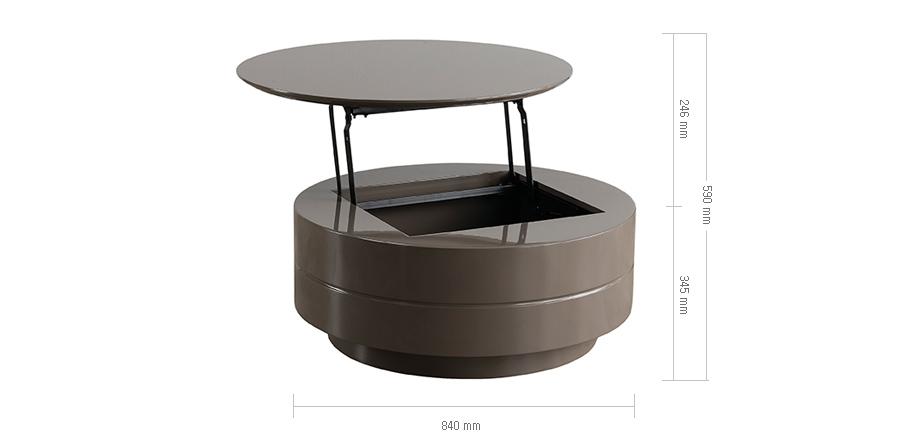 에몬스가구 - 에드윈 1 원형 리프트업 티테이블